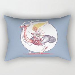 Ghostrich Rider (Ghost Ostrich Rider) Rectangular Pillow