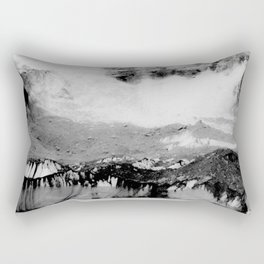 Wanderlust And Blurred Vision Before Summit Rectangular Pillow