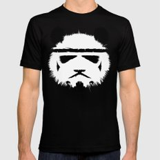 Panda Trooper Black Mens Fitted Tee LARGE
