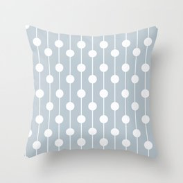 BlueGray Lined Polka Dot Throw Pillow