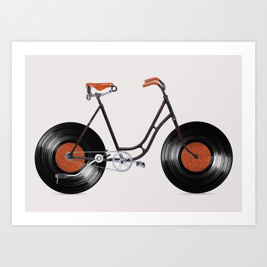 Vinyl Bike Art Print
