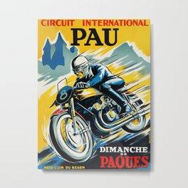 Grand Prix de Pau, Race poster, vintage motorcycle poster, retro poster, Metal Print