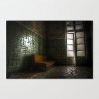 sofa Canvas Prints featuring Dark sofa by Cozmic Photos