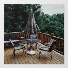 Cabin Deck Canvas Print