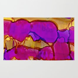 Vistas in Violet and Gold Rug