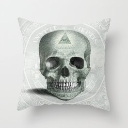 Eye on the Skull Throw Pillow
