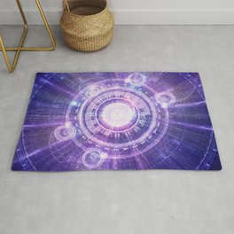 Blue Fractal Alchemy HUD for Bending Hyperspace Rug