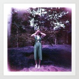 Girl in a Lavender World - Holga Film Photograph Art Print