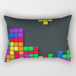 Tetris print design Rectangular Pillow
