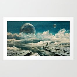 The explorer Art Print