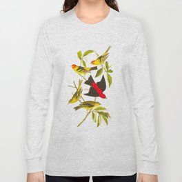 Louisiana Tanager and Scarlet Tanager Long Sleeve T-shirt