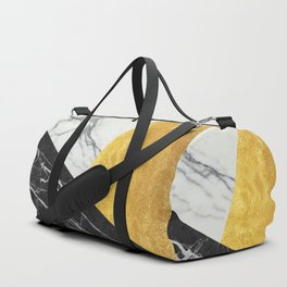 Marble and Gold Abstract Duffle Bag