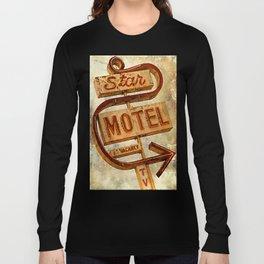 Vintage Grunge Motel Sign Long Sleeve T-shirt