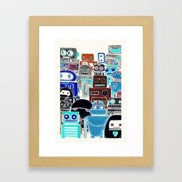 Robots print Framed Art Print