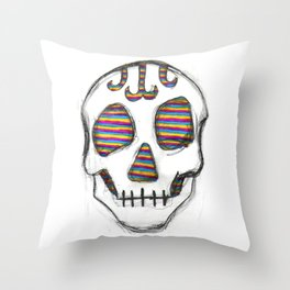 Look into my eyes Skull Throw Pillow