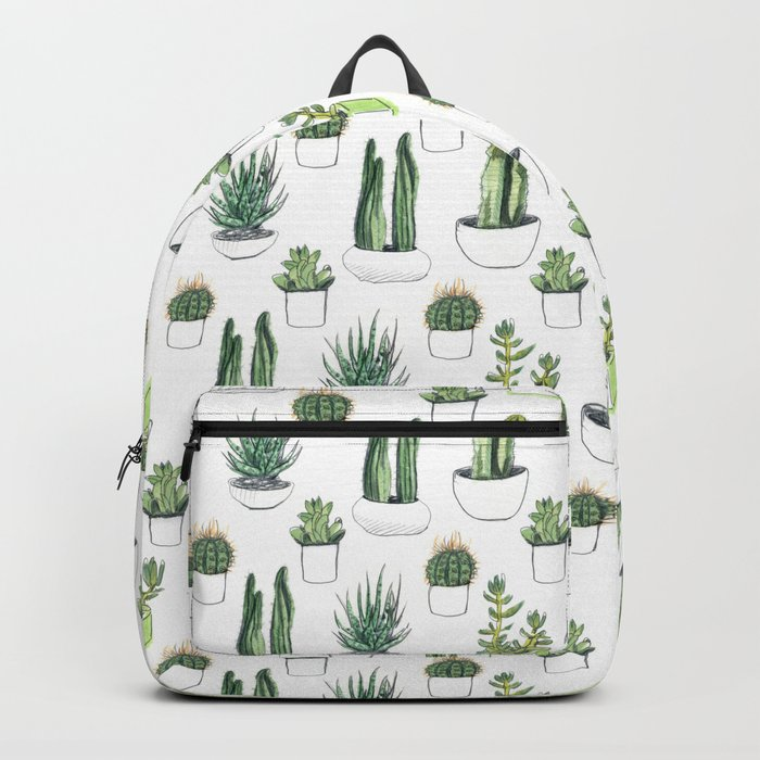 watercolour cacti and succulent Backpack