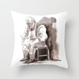 The Star Maker Sketch Throw Pillow