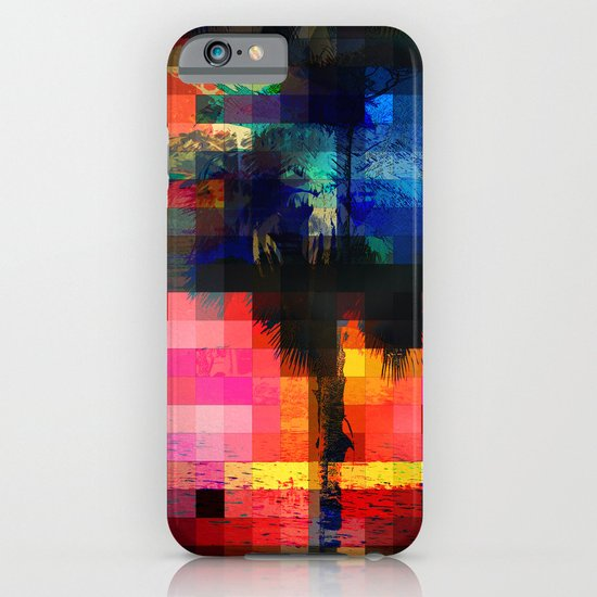Colorful Tropical Collage Mosaic iPhone & iPod Case