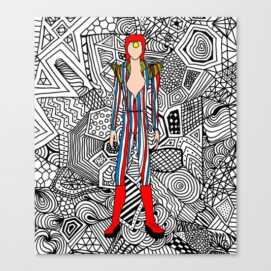 Bowie Fashion 3 Canvas Print