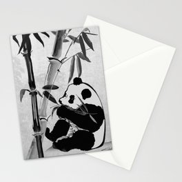 Giant Panda and Bamboo Stationery Cards