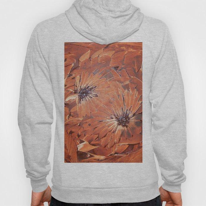 Brown flower Hoody