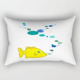 Yellow Fish w/Bubble (Babel Bubble 2) Rectangular Pillow