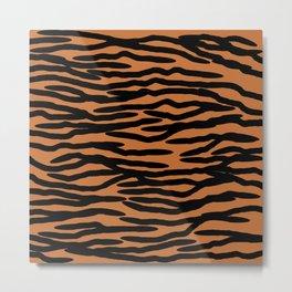 Tiger Skin Pattern Metal Print