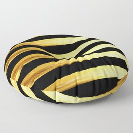 gold and black pattern Floor Pillow
