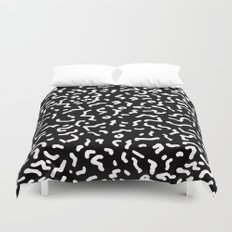 Retro Themed Repeated Pattern Design Duvet Cover