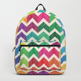 Watercolor Chevron Pattern IV Backpack