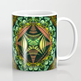 Tribal patterns mandala with fisheye effect Coffee Mug