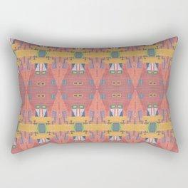 Red Wall Rectangular Pillow