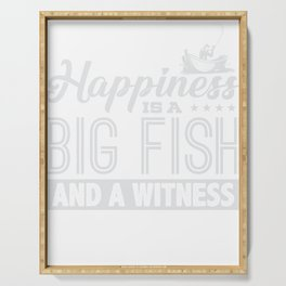 Happiness is A Big Fish & A Witness Serving Tray