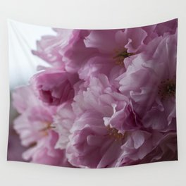 Pink cherry blossom Wall Tapestry