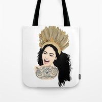 india Tote Bags featuring India by ElodieD