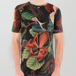 FLORAL AND BIRDS XIV All Over Graphic Tee