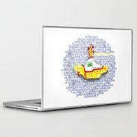yellow submarine Laptop & iPad Skins featuring Yellow Submarine by Anaïs Rivola