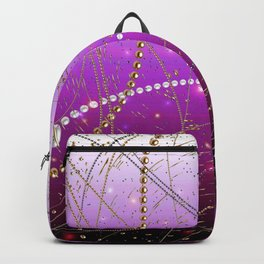 Pearls Black and White: Magenta Backpack