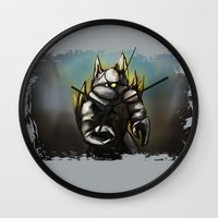 rocky Wall Clocks featuring Rocky by Wesley S Abney