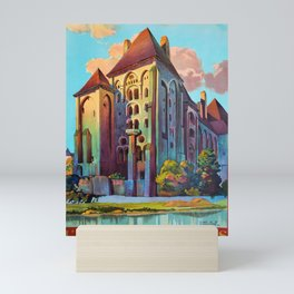 ancienne affiche Abbaye des Solesmes Mini Art Print