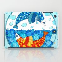 pisces iPad Cases featuring Pisces by Sandra Nascimento