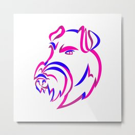 Manchester Terrier Ribbon Art Metal Print