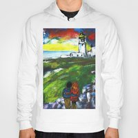 lighthouse Hoodies featuring lighthouse by Nastya Bo