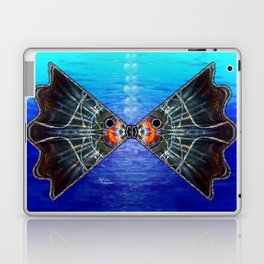 Fishies in Love, Kissing Fishes, Scanography Art Laptop & iPad Skin
