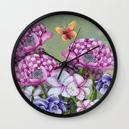 Fanciful Garden Wall Clock