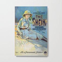 Vintage poster - The Sheik Metal Print