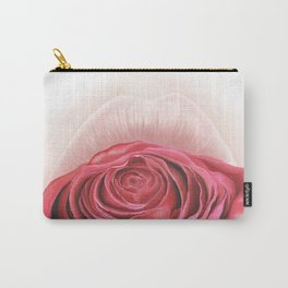 Lips withe Pink Rose - by Greta Darets Carry-All Pouch