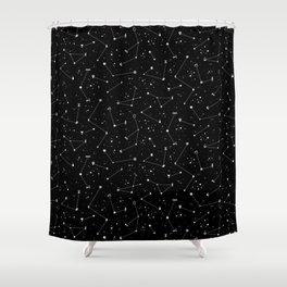 Constellations (Black) Shower Curtain