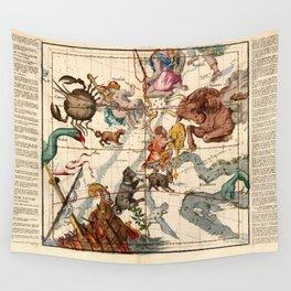 Globi Coelestis Plate 3 Wall Tapestry