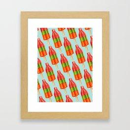 Popsicle Pattern - Spicy Bomb Framed Art Print